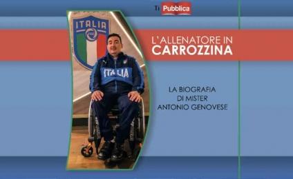 The coach in a wheelchair