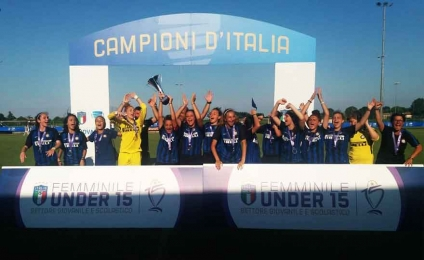 L'Inter batte la Juventus e conquista lo scudetto Under 15