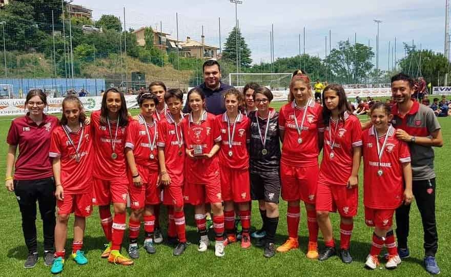 """Great 2 ° place at the """"Carlini Cup"""" for Under 12 girls"""