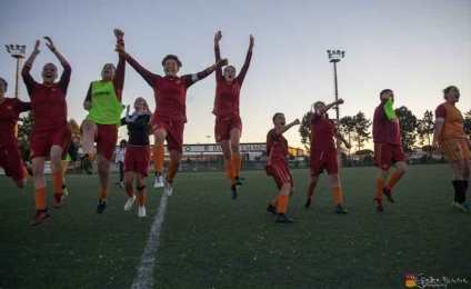 Roma women's football in the quarter-finals of Italy