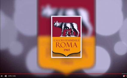 "The ""daughters of the wolf"" present the new anthem of Roma women's football"