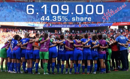 Italians love women's football: a boom in plays for ItalRosa