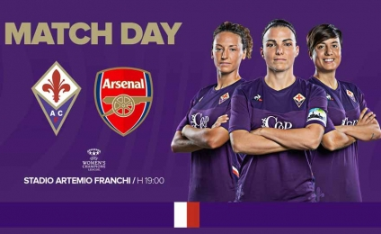 Champions: Fiorentina - Arsenal, Viola al Franchi ready to enchant