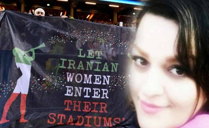 He sets himself on fire in protest against the stadiums forbidden to women