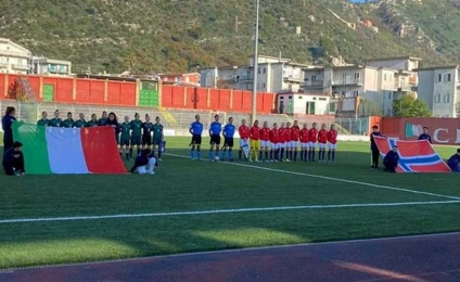 Azzurrine rock, beat Norway with Berti's goal
