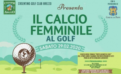 """ACF Arezzo and Casentino golf club present """"women's football at golf"""""""