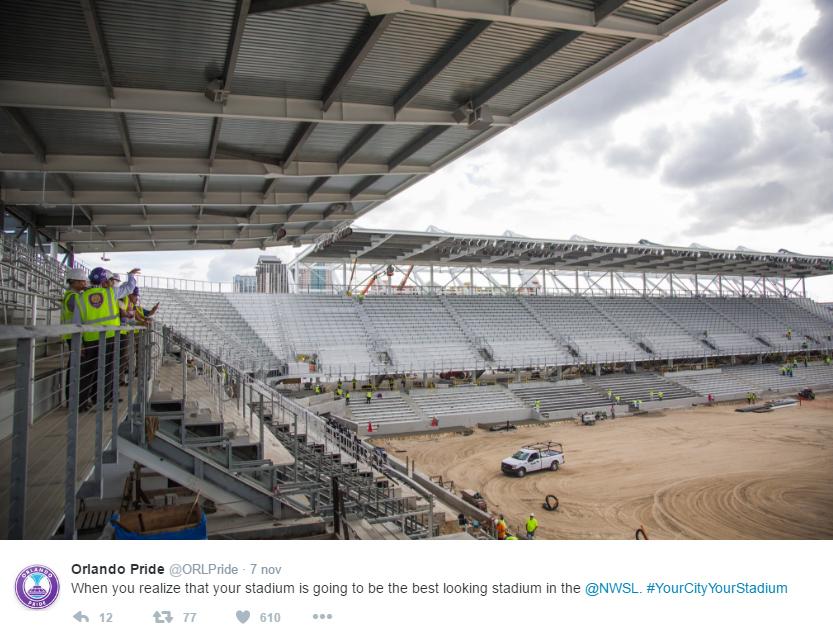 The new stadium for women's soccer in Orlando
