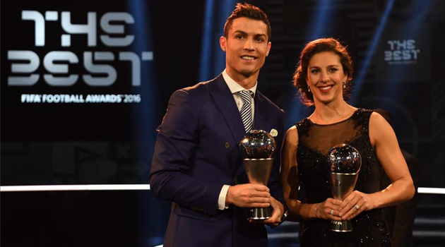 Carli Lloyd and Cristiano Ronaldo
