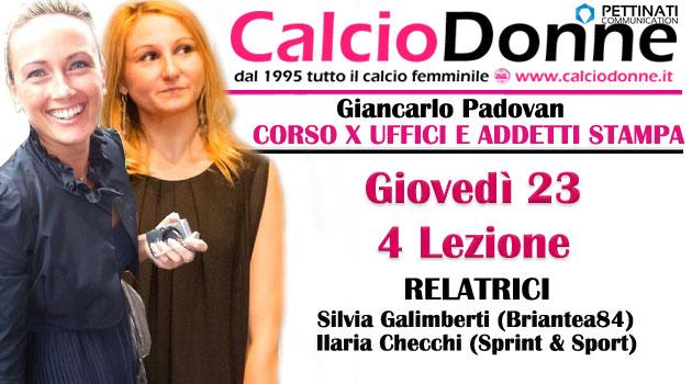 4 lezione con Silvia Galimberti e Ilaria Checchi