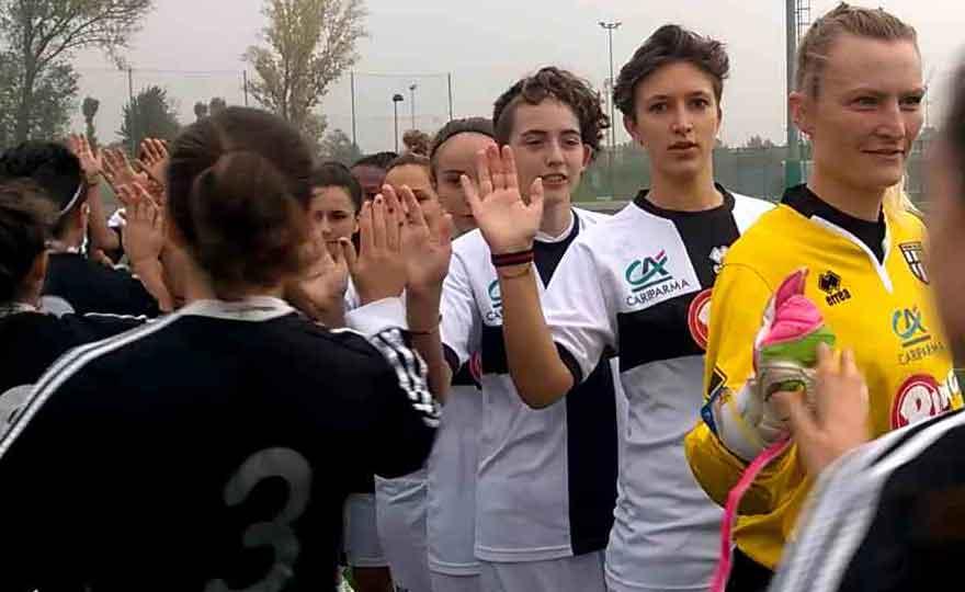 parma femminile, le gare di campionato con correggese e new team