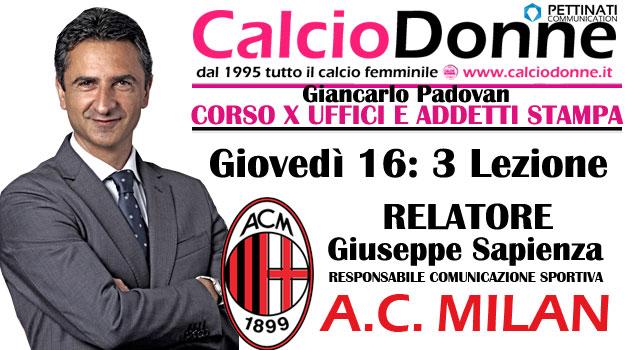 3 lesson: Giuseppe Sapienza (AC Milan)