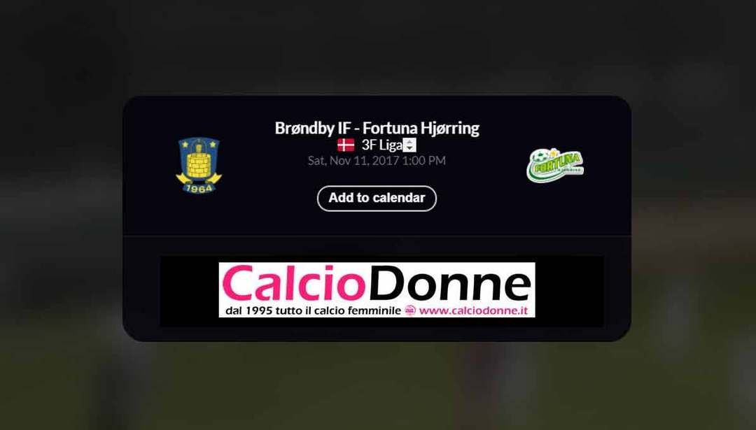 Brondby IF vs. Fortuna Hjorring