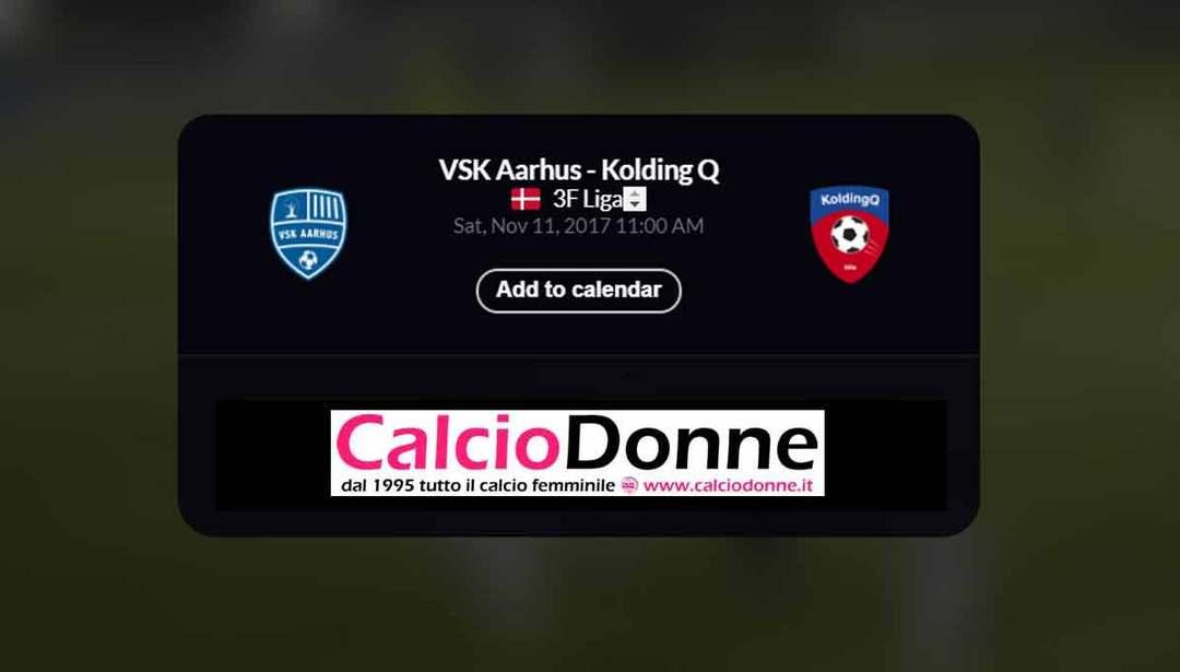VSK Aarhus vs. Kolding Q