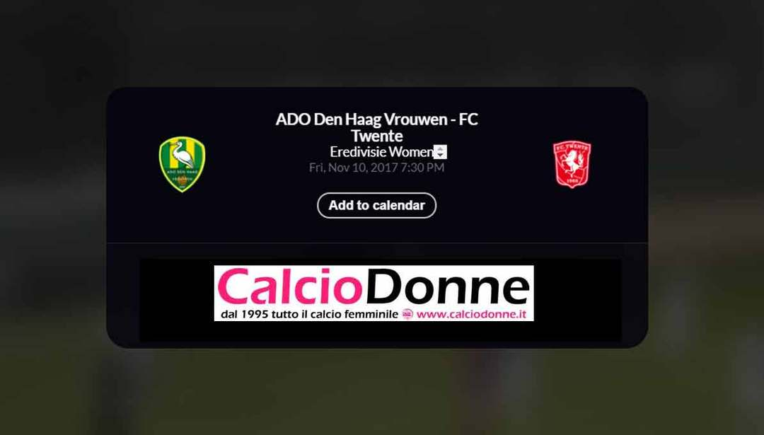 ADO Den Haag vs Twente